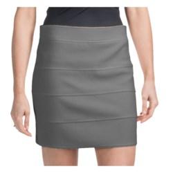 Ribbed Bandage Mini Skirt - Zip Back (For Women)