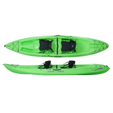 "Ocean Kayak Malibu Two XL Sit-on-Top Recreational Kayak - 13.5"", 2-Person"
