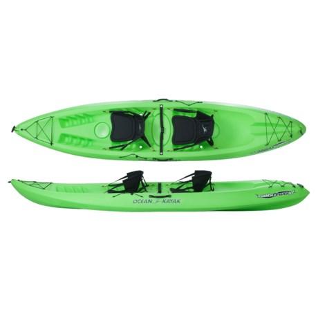 """Ocean Kayak Malibu Two XL Sit-on-Top Recreational Kayak - 13.5"""", 2-Person"""