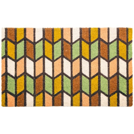 Entryways Earth Tones Coir Doormat - 17x28""