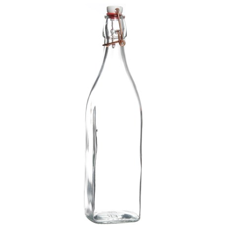 Bormioli Rocco Glass Bottle with Copper Swing Lid - 33.75 oz.