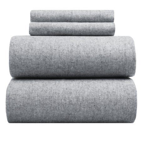 EnVogue Yarn-Dyed Flannel Sheet Set - King, 200 TC