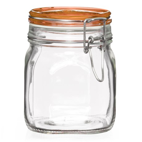 Bormioli Rocco Square Glass Food Storage Jar - 25 oz.