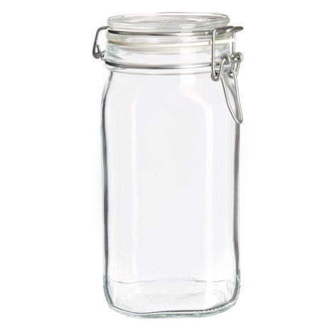 Bormioli Rocco Fido Square Glass Jar with Lid - 50.75 oz.