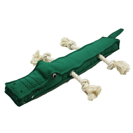 Patchwork Pet Alligator Stick Dog Toy - Squeaker
