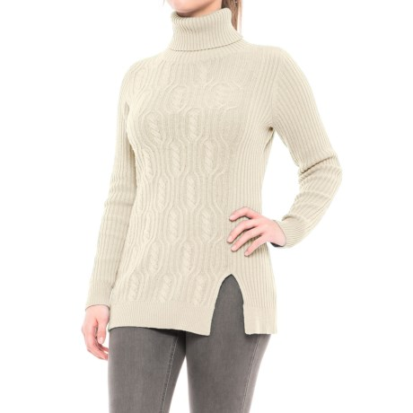 Pendleton Everyday Luxe Tunic Turtleneck Sweater - Merino Wool Blend (For Women)