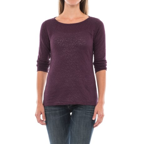 Specially made Paisley Jacquard Knit Shirt - Long Sleeve (For Women)