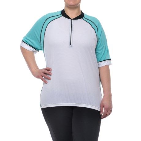 Canari Cascade Cycling Jersey - Zip Neck, Short Sleeve (For Plus Size Women)