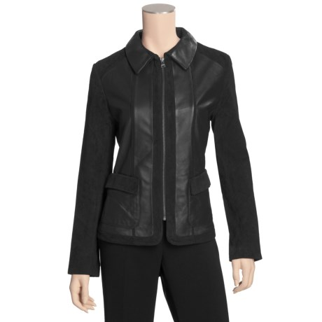 Tibor Leather Lamb and Suede Jacket (For Women)