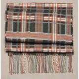 Johnstons of Elgin Diagonal Multi-Pattern Scarf - Woven Merino Wool (For Men and Women)