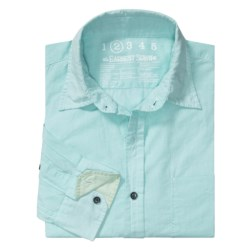 Earnest Sewn Micro Check Shirt - Cotton Enzyme Wash, Long Sleeve (For Men)