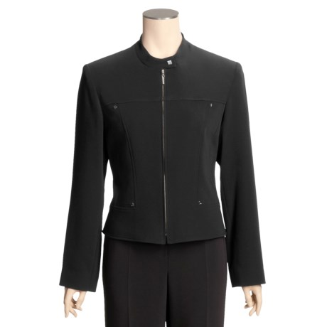 Louben Mandarin Collar Jacket - Zip Front (For Women)
