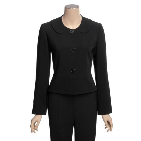 Louben Round Neck Jacket - 3-Button Front (For Women)
