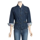 MontanaCo Racing Denim Jacket - Green Top Stitching (For Women)