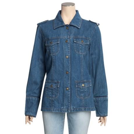 MontanaCo Cargo Denim Jacket (For Women)