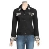MontanaCo Camo Detail Jean Jacket (For Women)