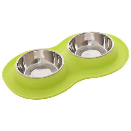 mod Medium Smart Feeder Set - Two 15 oz. Stainless Steel Bowls