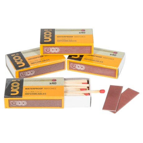 UCO Gear UCO Waterproof Matches - 4-Pack, 40-Matches Per Box