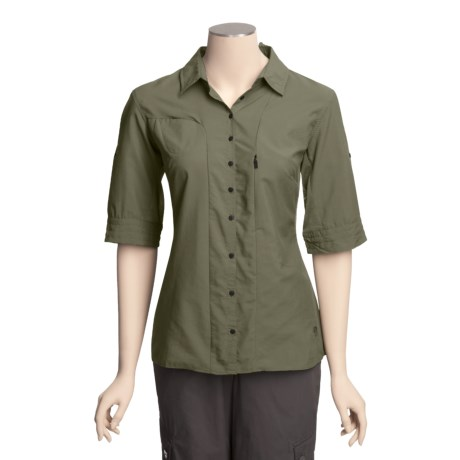 Mountain Hardwear Canyon Shirt - UPF 30, Roll-Up Elbow Sleeve (For Women)