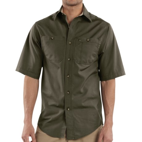 Carhartt Canvas Tradesman Work Shirt - Short Sleeve (For Men)