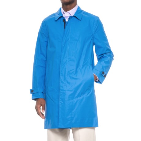 Exley Concealed Button Rain Coat - Waterproof (For Men)