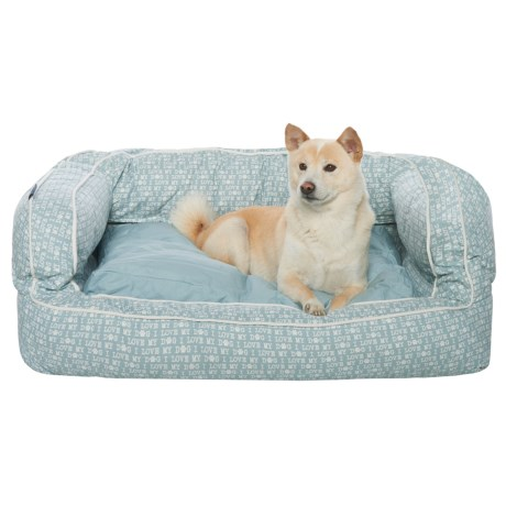 Humane Society I Love My Dog Script X-Large Bolster Dog Bed - 36x27""