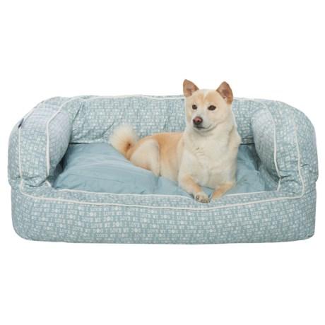 "Humane Society I Love My Dog Script X-Large Bolster Dog Bed - 36x27"""