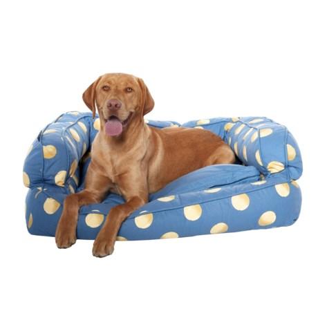 "Humane Society Tennis Balls Bolster Dog Bed - 36x27"""