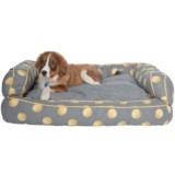 "Humane Society Tennis Balls Bolster Dog Bed - 29x43"""