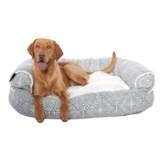 "Max Studio Joseph Round Couch Bolster Dog Bed - 48x36"""