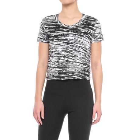 Satva Cropped T-Shirt - Organic Cotton, Short Sleeve (For Women)