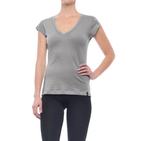 Satva Meghan V-Neck T-Shirt - Organic Cotton, Short Sleeve (For Women)