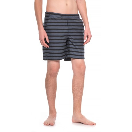 Exley Bristol Striped Swim Shorts - Built-In Mesh Brief (For Men)