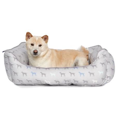 "Humane Society Multi-Dog Print Dog Bed - 22x28"""