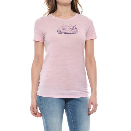 Icebreaker Tech Lite Caravan T-Shirt - Merino Wool, Short Sleeve (For Women)