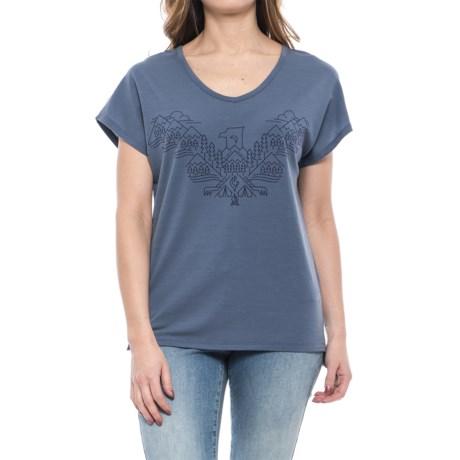 Icebreaker Aria Wing T-Shirt - V-Neck, Short Sleeve (For Women)