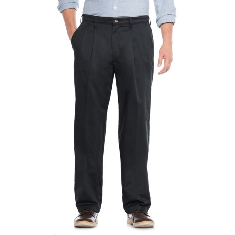 Specially made No-Iron Cotton Twill Pants - Pleated Front (For Men)
