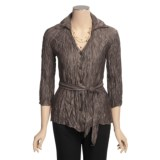 Two Star Dog Belted Tunic Shirt - Long Sleeve (For Women)