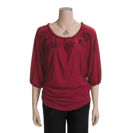 Two Star Dog Butterfly Tunic Shirt - Soft Jersey, 3/4 Sleeve (For Women)
