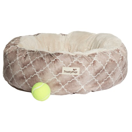 "TrustyPup Nuzzle Bucket Round Dog Bed -19x19"""