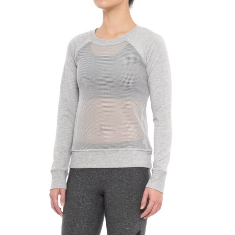 Yogalicious Mesh Front and Back Shirt - Long Sleeve (For Women)