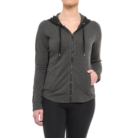 Yogalicious Mesh Zip-Up Hooded Jacket (For Women)