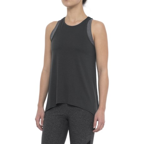 Yogalicious Overlapped Back Tank Top (For Women)