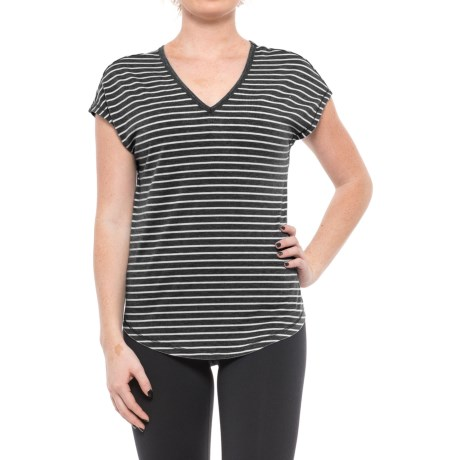 Yogalicious Striped Shirt - Short Sleeve (For Women)