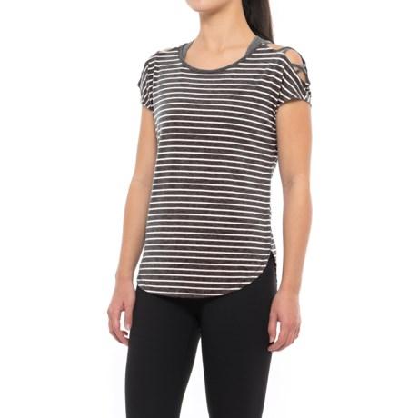 Yogalicious Crisscross Shirt - Short Sleeve (For Women)
