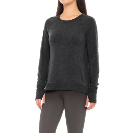 Yogalicious Side Split Shirt - Long Sleeve (For Women)