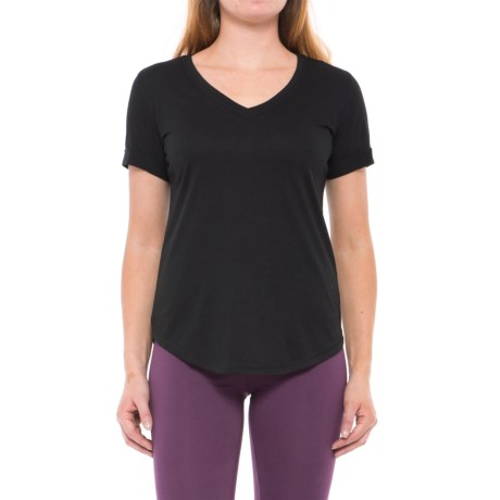 Yogalicious Jersey-Knit T-Shirt - V-Neck, Short Sleeve (For Women)