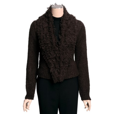 Two Star Dog Margot Short Cardigan Sweater - Cozy Boucle (For Women)