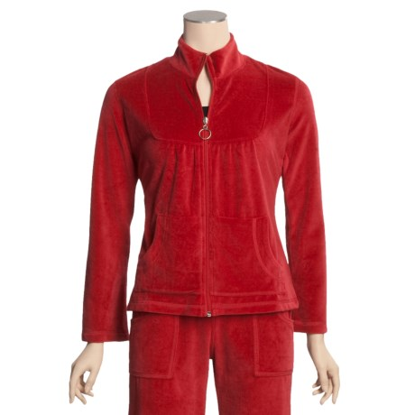 Calispia Cotton Velour Jacket (For Women)