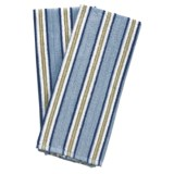 Lintex Patio Stripe Kitchen Towels - Set of 2, Cotton Terry